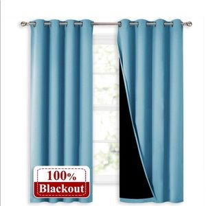 Brand new blackout curtains teal